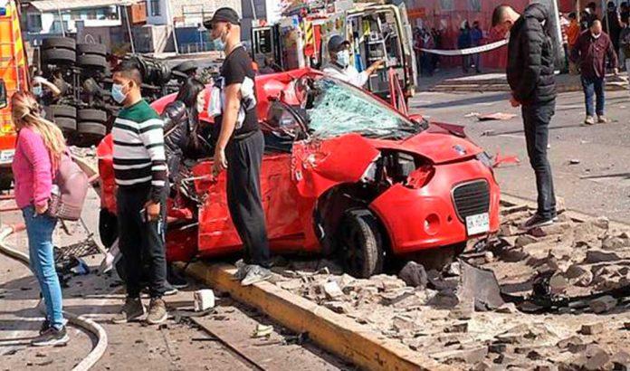 ARCHIVO | Accidente Avenida Salvador Allende | Foto: 24horas.cl