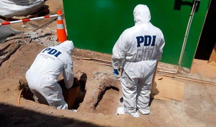 Cuerpos encontrados en el patio de FCAB el 20 de diciembre del 2018. Foto cedida