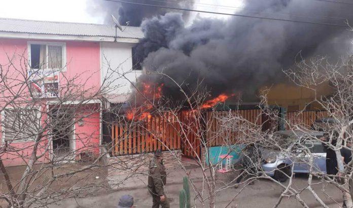 Incendio en Tocopilla   Foto cedida