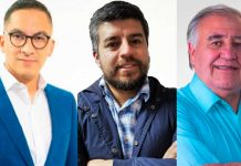 Sebastián Videla (IND-PL), Jaime Araya (IND-PPD), Arturo Molina (DC)