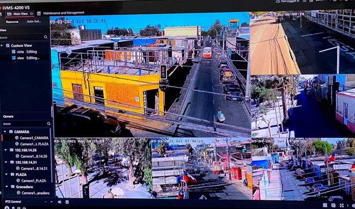 Sala de monitoreo de cámaras de seguridad de Calama | Foto: Prensa I.M.C.