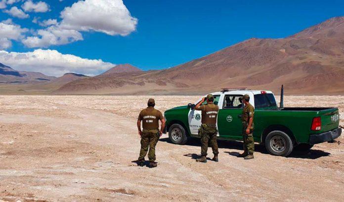 Carabineros en frontera de región de Antofagasta | Foto: TW Carabineros de Antofagasta