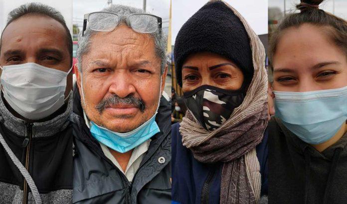 Carlos Finol (Venezolano), Candido Martínez (Venezolano), Carmen Díaz (Venezolana) y Yubeisi Araujo (Venezolana) Ciudadanos venezolanos atrapados en el Terminal de Buses de Antofagasta